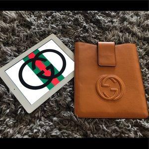 Gucci iPad case leather